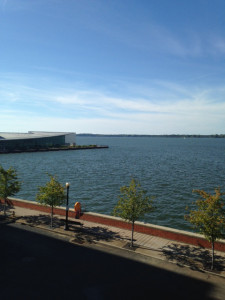 An excellent view from our Erie Bayfront Mixer!